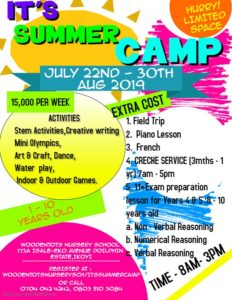 ITS SUMMER CAMP @ Woodentots Nursery School